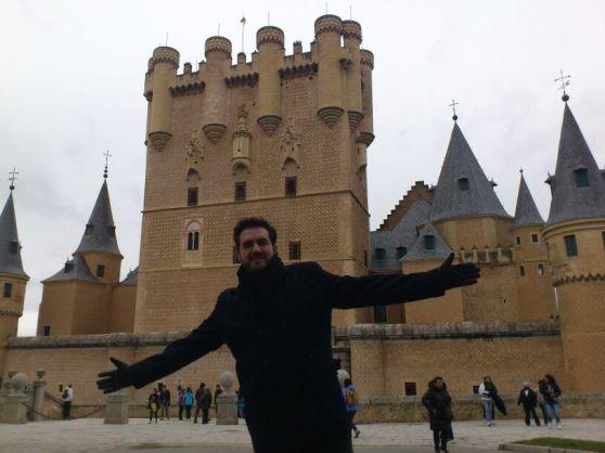 Germán in the Alcázar of Segovia (literally, Segovia Castle)