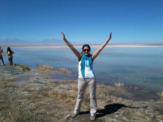 Alejandra from Chile at the Cejar Lagoon ( Atacama´s Desert) Chile Openarms!